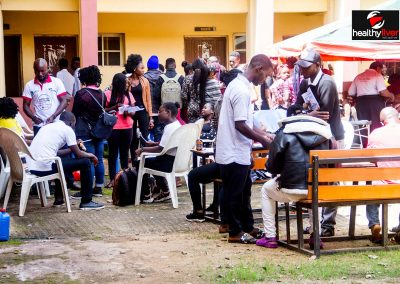 Cross section of students at NTA College, Jos Plateau State during one of our medical outreaches.