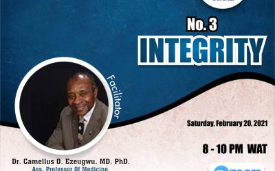 INTEGRITY DEALS WITH TOTALITY – Dr. Camellus Ezeogwu